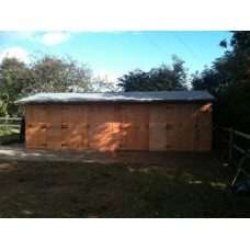 Wooden Horse Stables & Tac Room - 24 x 12