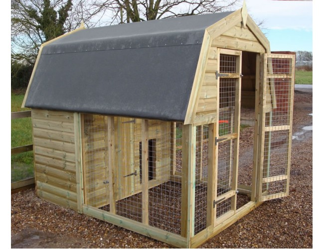 Dutch barn style kennel for Dutch style barn