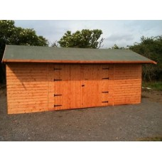 Enclosed Wooden Hay Store